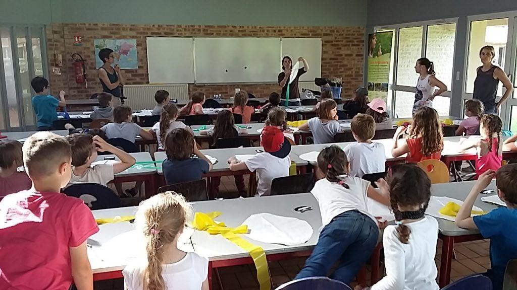Construction Cerf Volant- séjours scolaires Baie de Somme