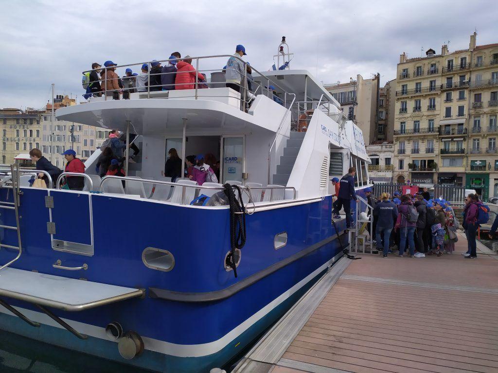 Sortie Bateau - Classe découverte Marseille