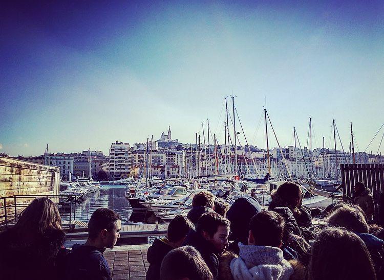 Vue sur le Vieux-Port - Classe découverte Marseille